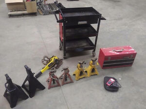 Tool Box Car Jack Stands OBD Code Reader Lever Chain Hoist
