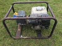Honda gx 5.5 generator 110v + 240v excellent working order