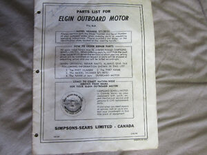 Elgin (Sears) 7 1/2 hp outboard parts list