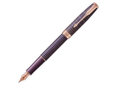 Parker Sonnet Cisele Matrix Purple/Rose Gold Medium Fountain Pen (1931543)