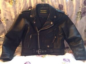 Kids motorcycle jacket and chaps