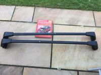 Renault roof bars and book