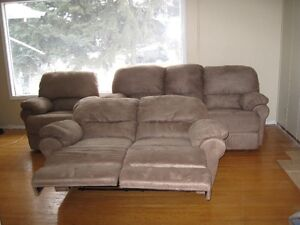 MICRO FIBER RECLINING SOFA/LOVE SEAT & CHAIR.