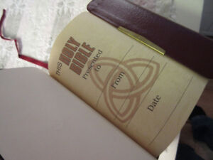 New NKJV Compact Reference Bible by Thomas Nelson red leather