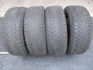Four Winter Tires on Rims P215/60R15