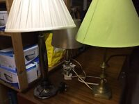 Table/bedside lamps (3)