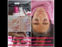 Waxing tinting and tanning