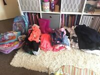 5/6 6/7 years girls bundle clothes bags school