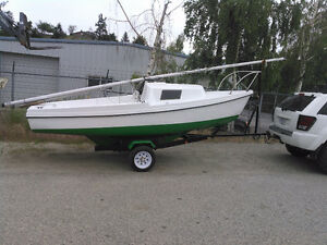 17' Sailboat - very nice boat & trailer - shallow launch