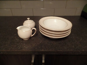 (4) DENBY Soup/Cereal BOWLS & CREAM & SUGAR ~ NEW ~ $35.00