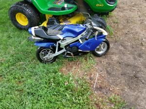 Pocket bike 47cc gas engine 2009  ZSTAR Go fast mini bike