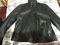 Next men's leather jacket xl
