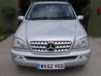 Mercedes-Benz ML270 2.7 Diesel Automatic - 132000 Miles - Full History