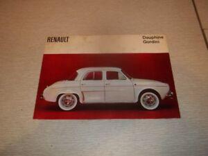 BROCHURE AUTO RENAULT GORDINI ( 1964 )