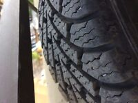 Goodyear Nordic Winter tires on steal rims (185/60/r15)