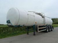 Indox Ros Roca Tri Axle 30000 Litre Stainless Steel Milk Tanker