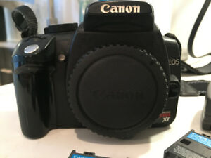 CANON EOS DIGITAL REBEL XT BODY WITH BATTERIES AND CHARGER