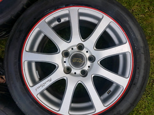 """16"""" MB motorsport rims and 205/50R16  Nitto Neo Gen 3 tires"""