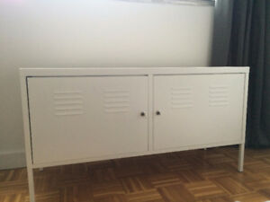 White IKEA Cabinet Table