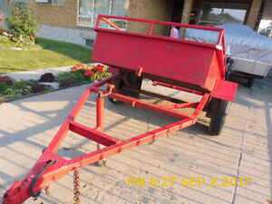 Selling custom built heavy duty, 6x4 feet, tilt trailer.