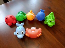 Unused squirty bath toys