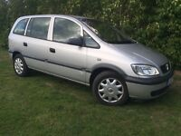 7 SEAT - 2002 VAUXHALL ZAFIRA - ONLY 80,000 MILES