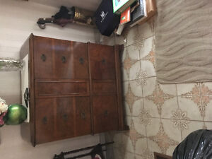 FREE vintage TV and record player cabinet