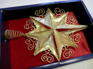 gold star Christmas tree topper new Strathcona County Edmonton Area image 1