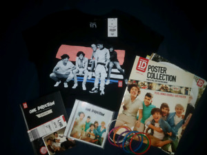 Various One Direction merchandise
