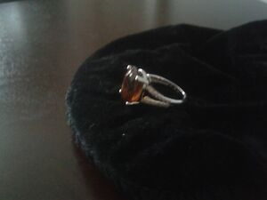 14K White Gold 6.5CT Citrine .25 Diamond Ring St. John's Newfoundland image 3