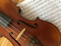 Violin, fiddle and general music, solo and group lessons