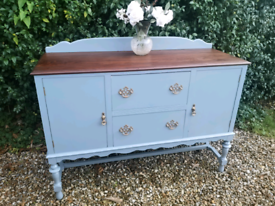 Gorgeous Old Charm Rustic Shabby Chic Painted Sideboard Cabinet Drawer