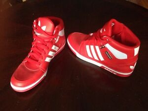 Men's Red Adidas high tops NEW