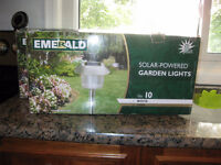 NEW - Solar Powered Garden Lights (LED) (1 box left) sold 1 box