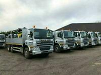 DAF CRANE TRUCKS FOR HIRE 15T,18T, 26T - £130 + VAT PER DAY