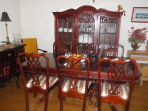 Elegant 12 Piece Chippendale Dining Room Set
