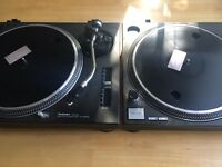 Technics 1210 mk2 pair great condition with Stanton needle and cartridge included!