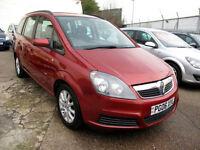2006 06 Vauxhall Zafira 1.6 Club 16V 7 Seats MPV 78K 7 Stamps NEW SHAPE