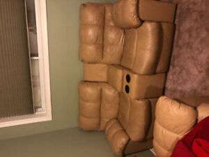 Lazy boy Leather sofa and recliner