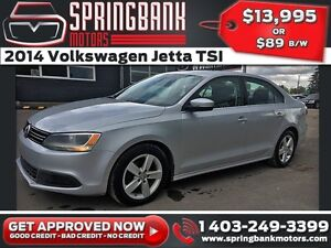 2014 Volkswagen Jetta TSI w/Sunroof $89B/W INSTANT APPROVAL, DRI