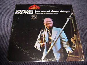 Stéphane Grappelli - Just One Of Those Things (1973) LP Jazz