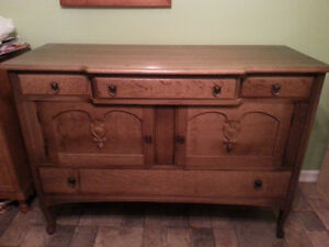 Antique Solid Wood Buffet-excellent condition
