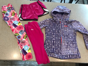 Girls size 12 Under Armour and 90 degrees lot