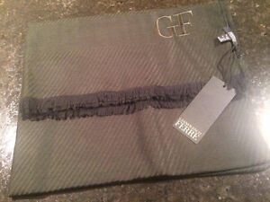 Gianfranco Ferre Olive Green Scarf -100% Authentic