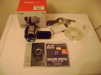 new never used canon fs300 digital camcorder & new memory card