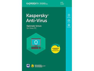 Kaspersky Antivirus Security 2018 3 PC 1 Jahre / Deutch /internet /auch für