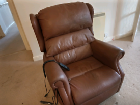 Electric reclining armchairs (1 has massage) matching electric sofa