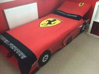 Boys racing car bed and covers