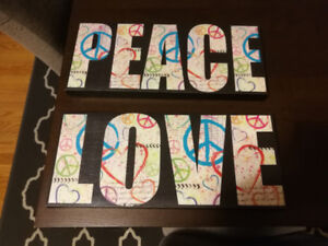 Peace and love Canvases brand new
