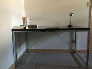 Edgy, Minimalist, Scandi Style Black + Metal Desk